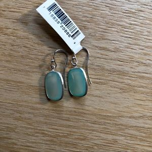 NWT Aqua Chalcedony Silver Earrings
